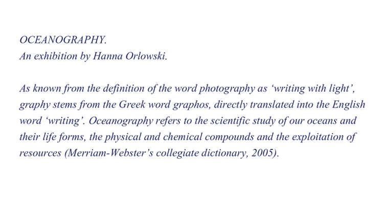 oceanography.