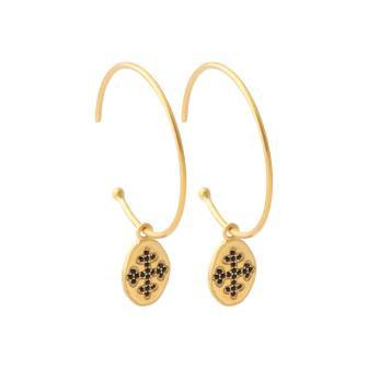 Boucles d'oreilles pendentif croix