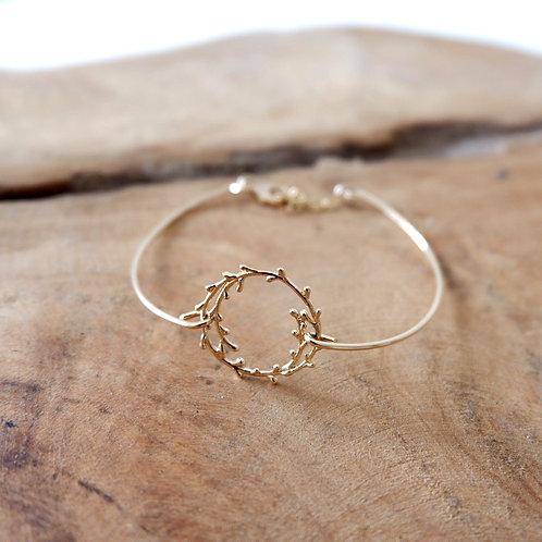 Bracelet jonc branche olivier