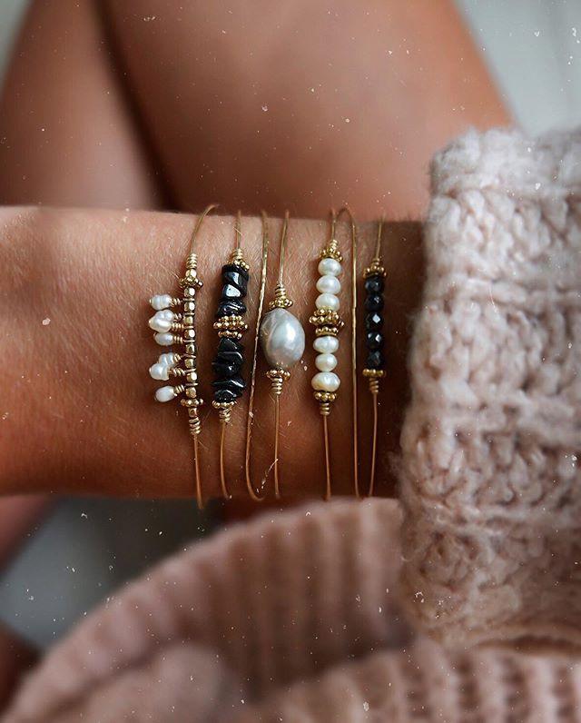 S👀N 🖤  Hématite & perles d'eau douce ?