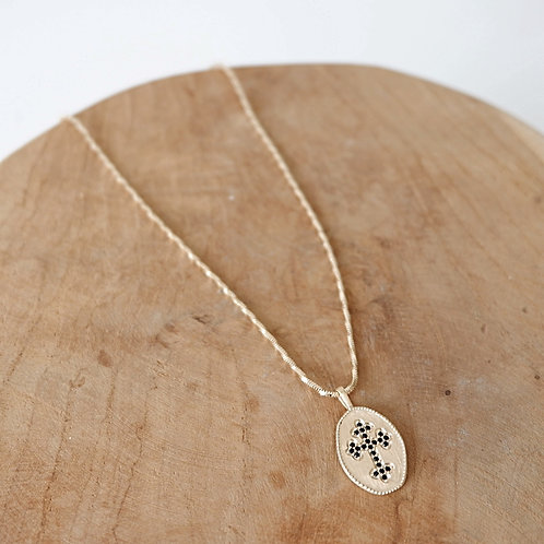 Collier pendentif croix &strass