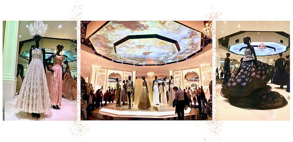 Dresses at the 'Dior: Designer of Dreams' exhibition
