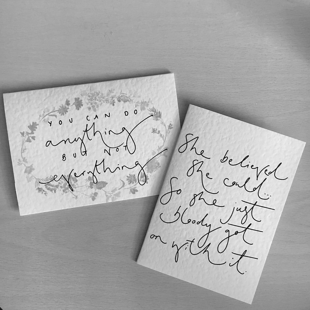 Cards with inspirational, empowering quotes