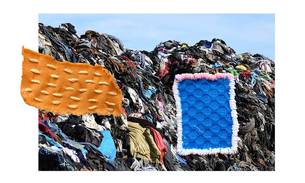 Textile waste in landfill