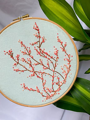Cherry Blossom Embroidery Hoop