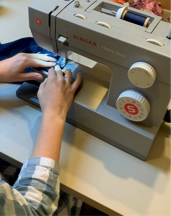 Sewing on a heavy duty sewing machine