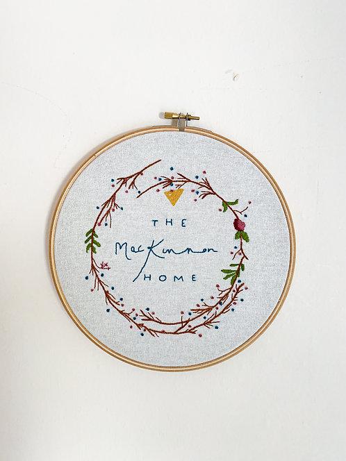 Personalised Embroidery Hoop