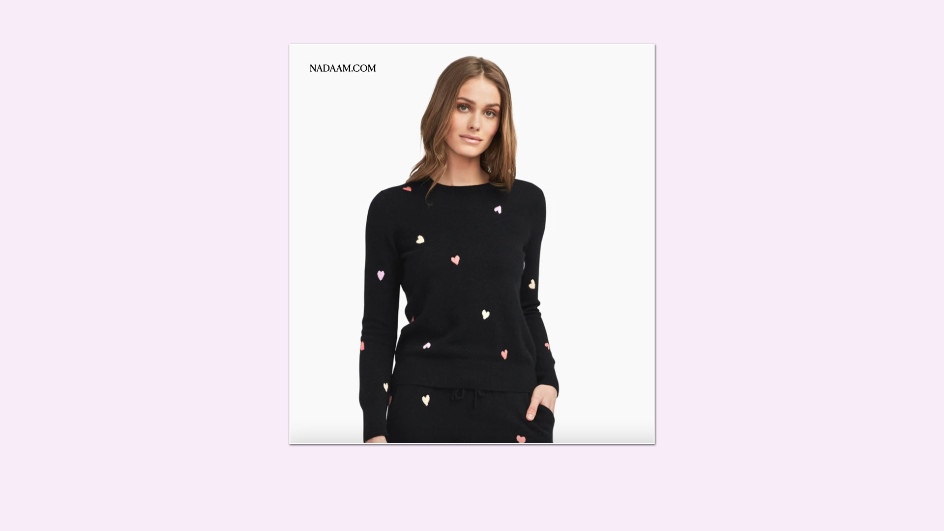 Naadam Heart Sweater