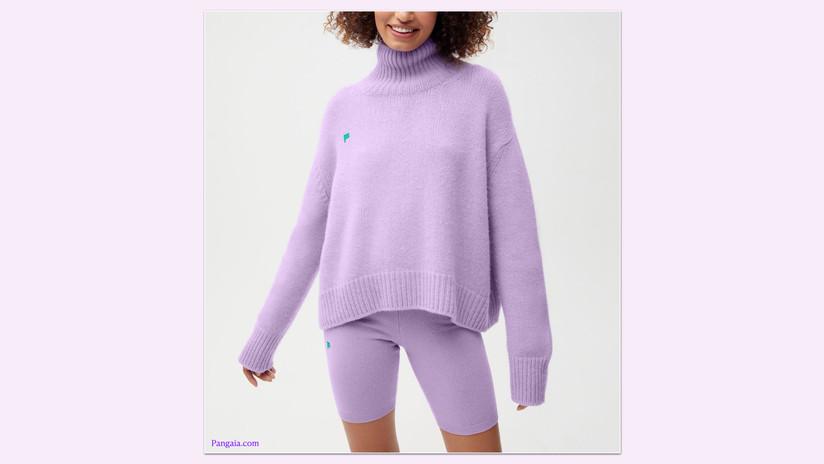 Pangaia Recycled Cashmere Chunky Turtleneck Sweatshirt
