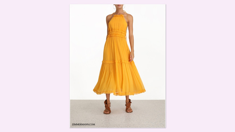 Zimmermann, Mae Tiered Frill Long Dress