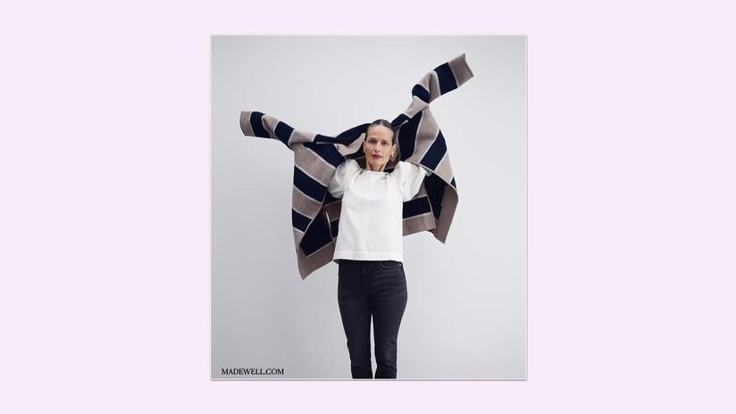 Striped Ballard Sweater Coat