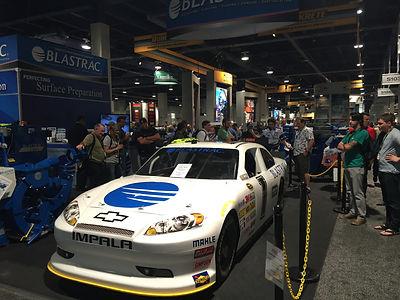 NASCAR Simulator, Lead Generation, Blastrac, World of Concrete, Las Vegas, Tradeshow, Showcars, Brand Awareness,