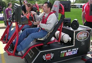 NASCAR Simulator, Racing Pod, Racing Pods, Coca Cola, Tradeshow, Events, Brand Awareness, Lead Generation,