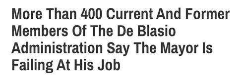 De Blasio Headline