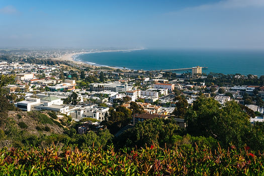 View of Ventura and the Pacific Coast fr