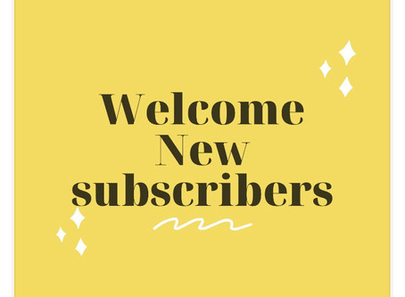 ✨✨Welcome New Subscribers✨✨Thank you for joining! ✨Stay tuned for Announcements✨✨