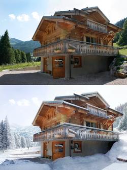 School project : snow chalet