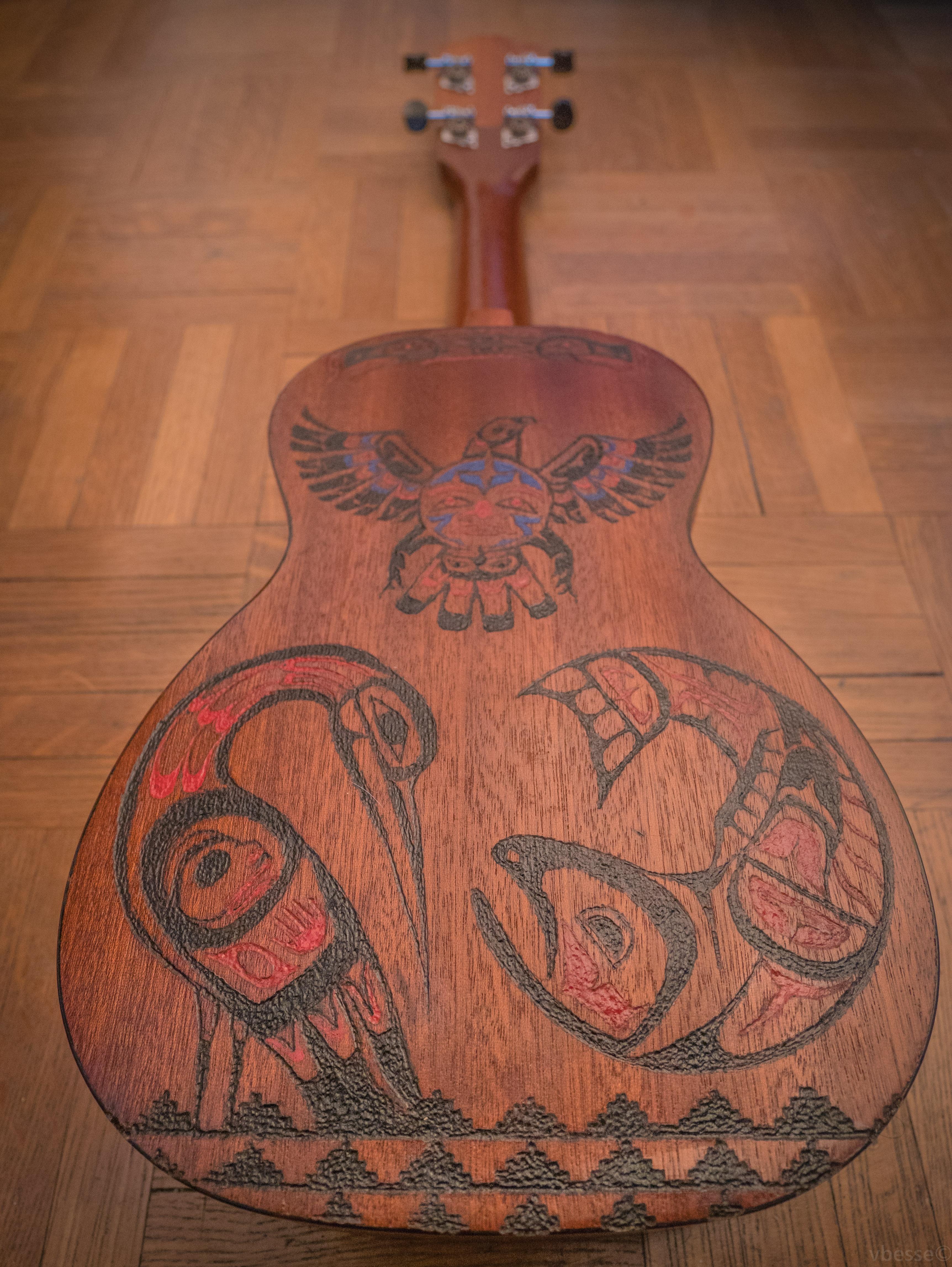 Ukulele engraving 2 - Back