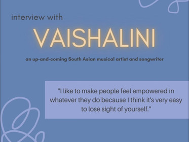 """Interview With Vaishalini: Her Musical Inspirations, Her New Single """"Watch Your Step,"""" and More!"""
