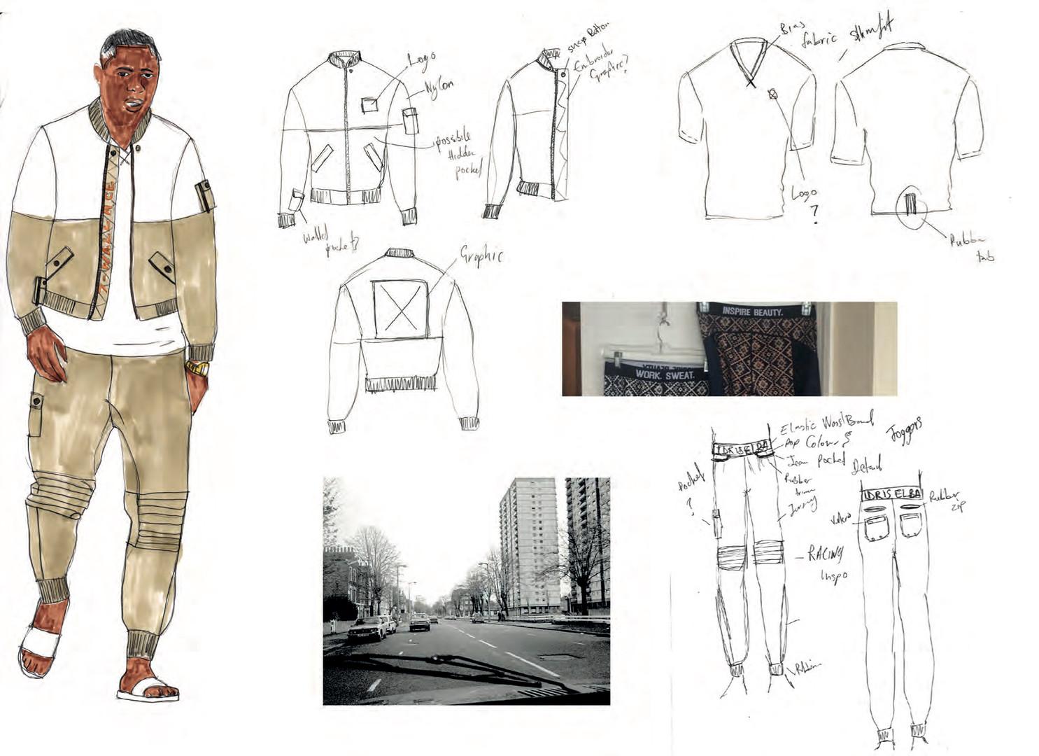 SD x IE - Outfit 1 design development