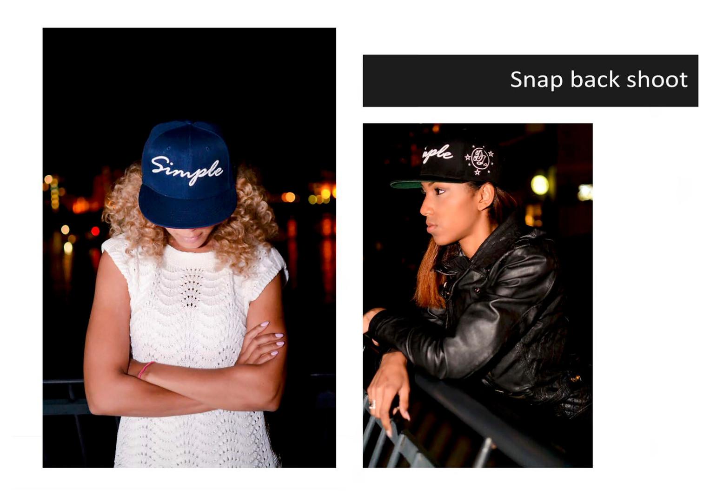 Snapback lifestyle shoot