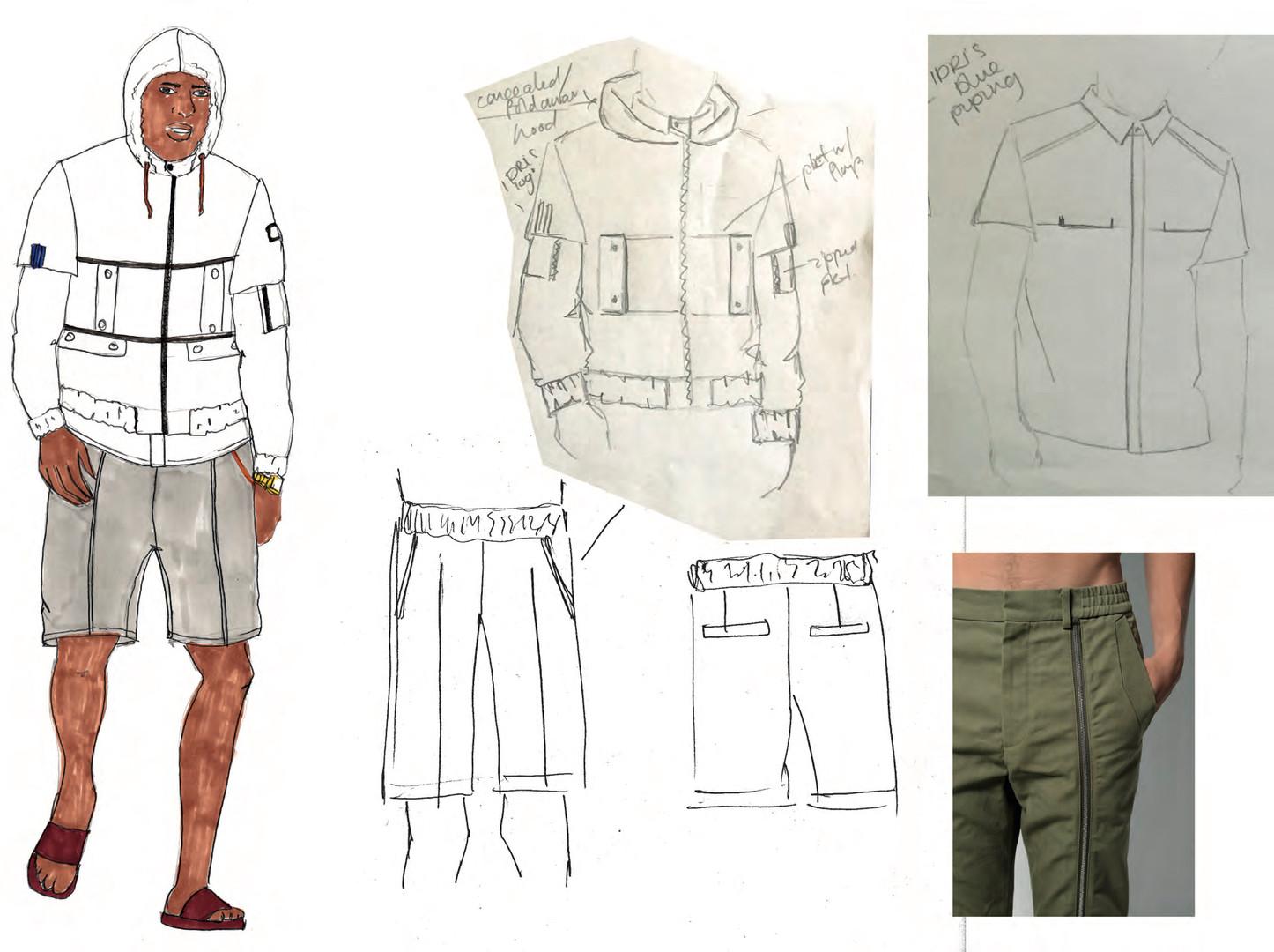 SD x IE - Outfit 4 design development