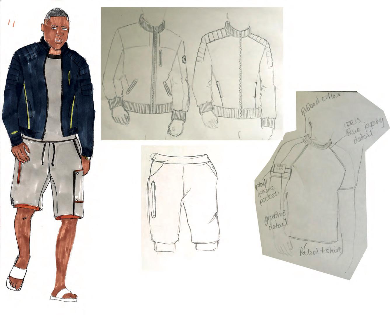 SD x IE - Outfit 6 design development