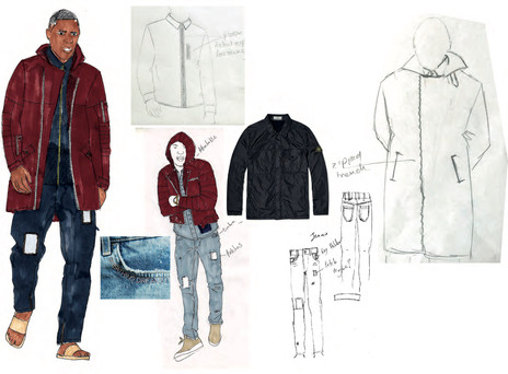 SD x IE - Outfit 3 design development