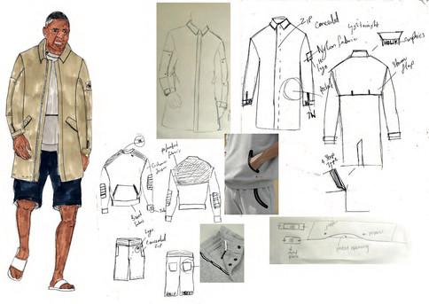 SD x IE - Outfit 5 design development