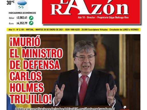 ¡MURIO EL MINISTRO DE DEFENSA CARLOS HOLMES TRUJILLO!
