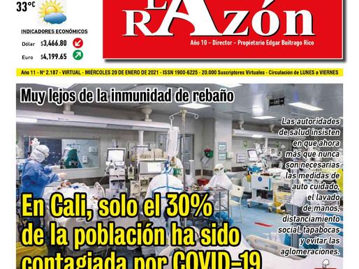 Edición del Diario La Razón del miércoles 20 de enero de 2021