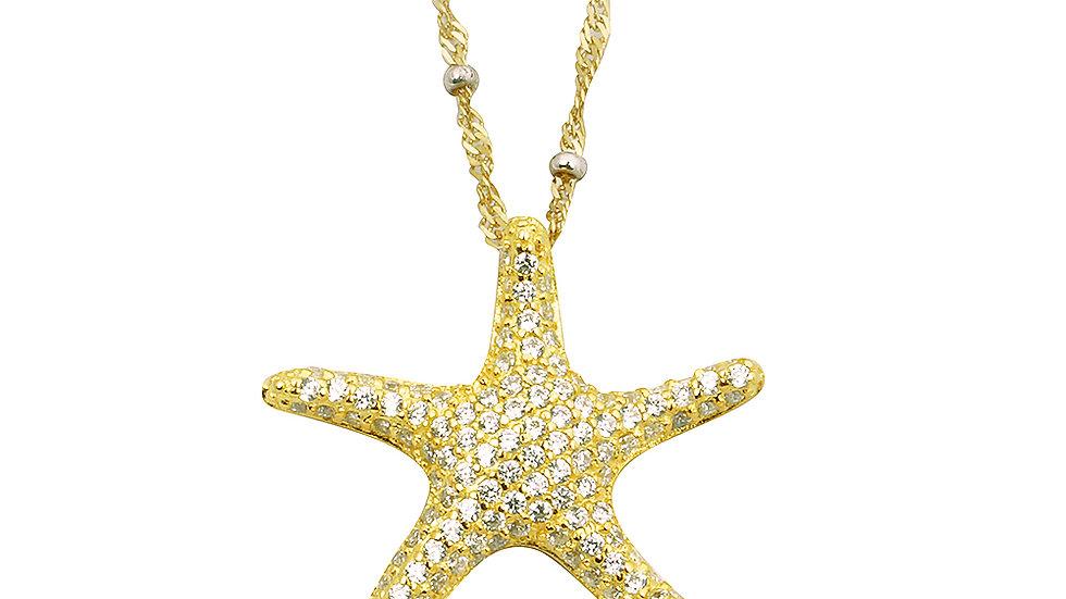 Micro pave Starfish pendant.