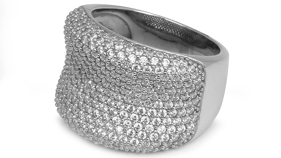 Micro pave statement ring