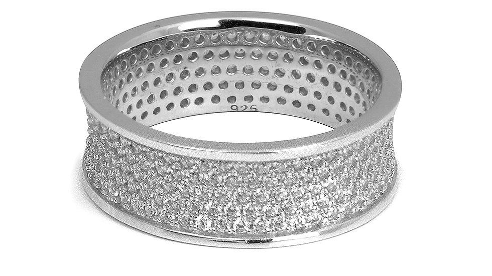 Micro pave cubic zirconia band. #8