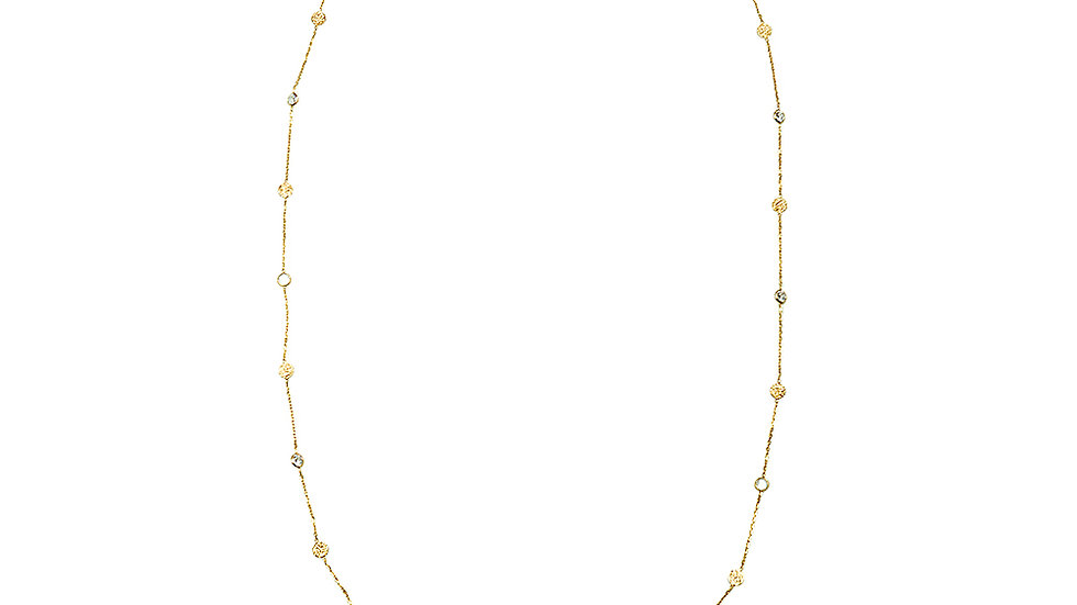 Gold plated silver. Coin and cz necklace