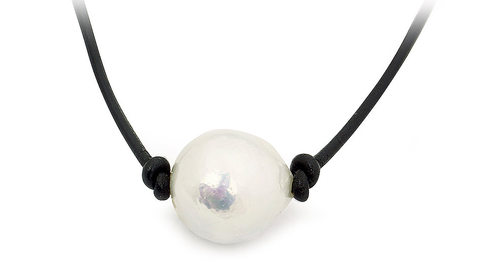 South Sea Baroque pearl choker. Adjustabl