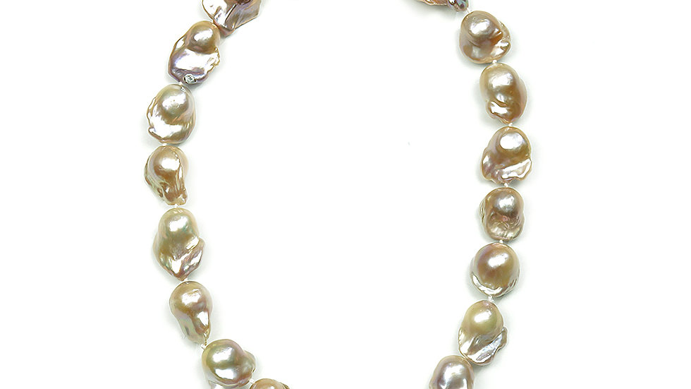 "South Sea Baroque pearls. 18"" length natural color"