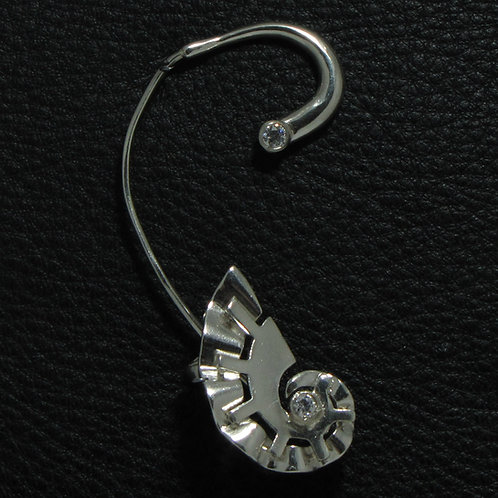 Каффа в форме раковины из серебра