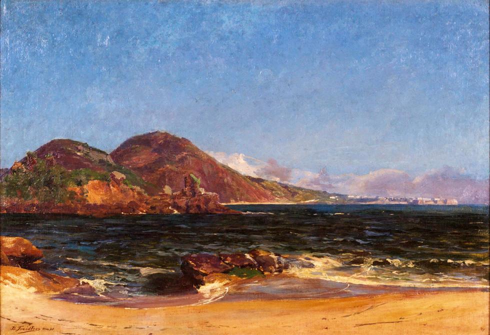 Entrada da Barra do Rio de Janeiro, 1898, Benno Treidler, Óleo sobre tela