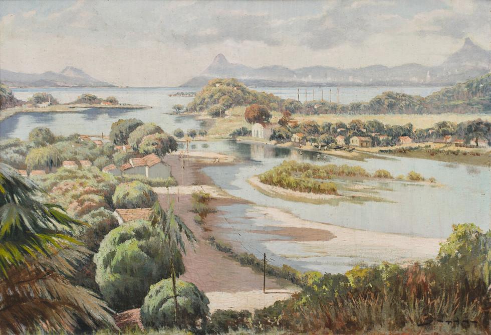 Jequiá - Ilha do Governador, 1944  Jordão de Oliveira, Óleo sobre tela