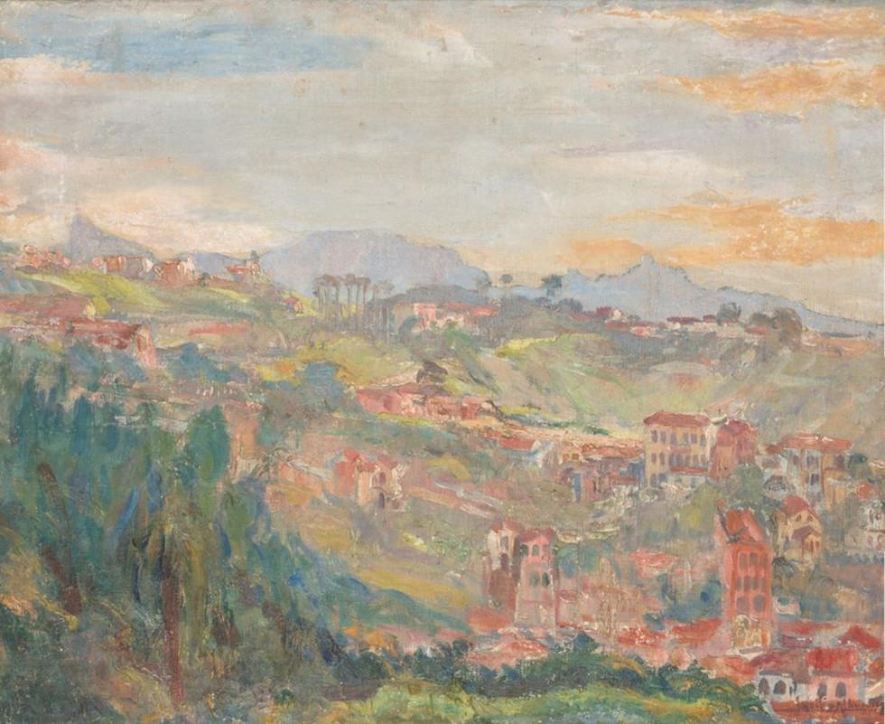 Morro do Cavalão, Século XX  Lucílio de Albuquerque Óleo sobre tela