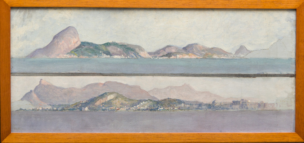 Dois Panoramas da Baía do Rio de Janeiro, Sem data, Antonio Parreiras, Óleo sobre tela