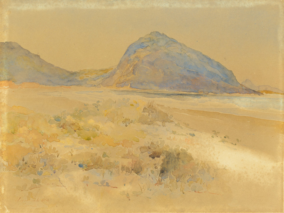 Pedra do Leme, 1906 Anna Vasco, Aquarela