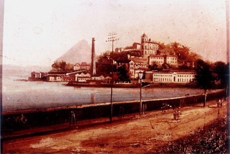 Vista da Igreja da Gloria, Século XIX Nicolao Antonio Facchinetti, Óleo sobre madeira