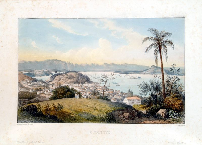 O Catete, Século XIX Abraham-Louis Buvelot, Litogravura