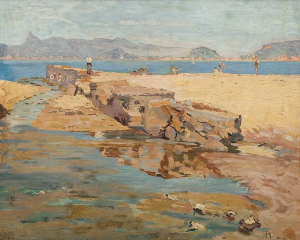 Marinha - Canto do Rio, 1927  Francisco Manna Óleo sobre tela
