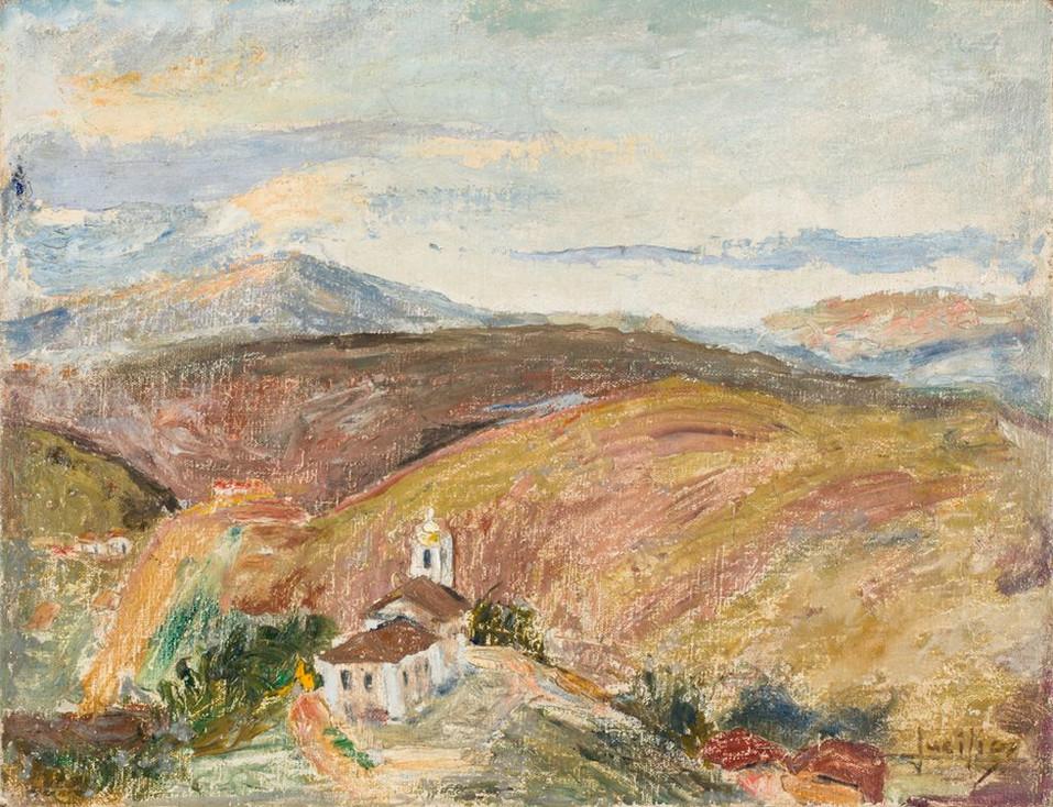 Ocaso – Itatiaia, 1933 Lucílio de Albuquerque, Óleo sobre tela sobre madeira