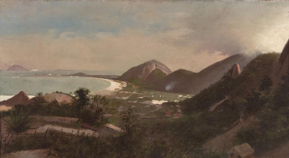Paisagem do Rio de Janeiro, Sem data, Augusto Rodrigues Duarte, Óleo sobre madeira