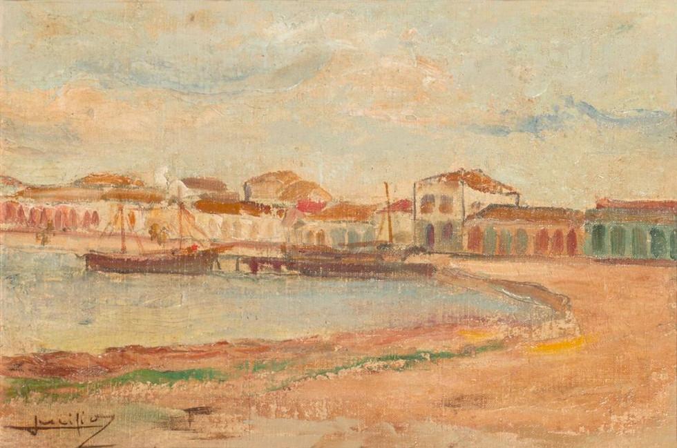 [Ancoradouro, Cabo Frio], Século XX Lucílio de Albuquerque, Óleo sobre tela