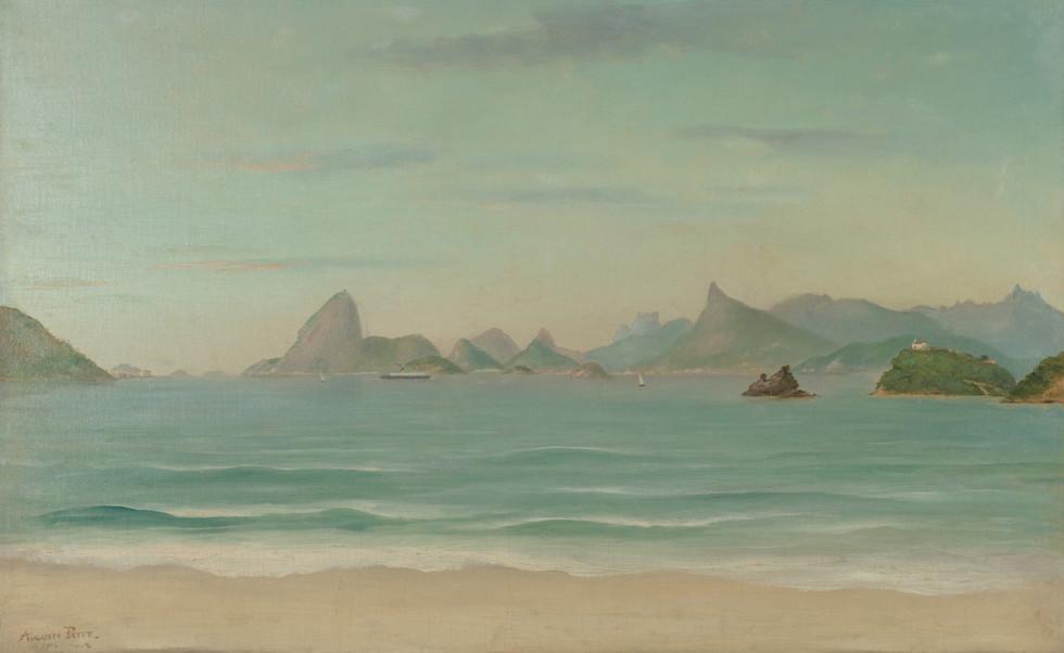 Paisagem do Rio de Janeiro, 1914, Auguste Petit, Óleo sobre tela